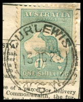 Lot 1237:Curlewis: - 'CURLEWIS/13OC28/=N.S.W=' on 1/- Roo.  PO 9/12/1883.