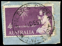 Lot 1341:Spicer's Creek: - 'SPICER'S CREEK/11DE57/N.S.W-AUST' on 4d Xmas.  PO 16/8/1880; closed 24/12/1977.
