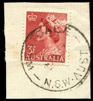 Lot 1364:Westdale: - 'WESTDALE/2NO57/N.S.W-AUST' on 3½d red QEII.  RO 1/4/1911; PO 1/1/1917.