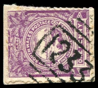 Lot 753:1233: BN on 1d Centennial.  Allocated to South Woodburn-PO 1/7/1883; renamed Woodburn PO 18/2/1935.