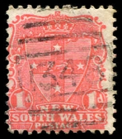 Lot 757:1348: BN (type 4B) on 1d Arms.  Allocated to Mossman's Bay-PO 15/4/1890; renamed Mosman PO 1/8/1893.