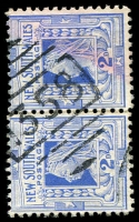 Lot 1130:1358: '1358' BN on 2d blue pair. [Rated SS]  Allocated to Sutherland-PO 1/9/1886.