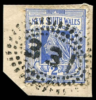 Lot 1095:331: rays on 2d blue.  Allocated to Bore Hole-PO 12/5/1862; renamed Hamilton PO 1/8/1872.
