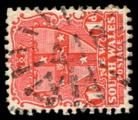 Lot 1098:418: rays on 1d Arms.  Allocated to South Grafton-PO 1/9/1866.