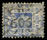 Lot 5394:606: rays on 2d blue. [Rated S]  Allocated to Gulargambone-PO 1/2/1876.