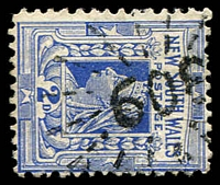 Lot 6121:608: '608' rays on 2d blue.  Allocated to Gundurimba-PO 1/8/1875; closed 30/9/1958.