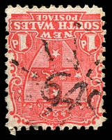 Lot 5399:648: rays on 1d Arms. [Rated SS]  Allocated to Shepard's Town-PO 15/8/1872; renamed Shepardstown PO c.1923.