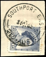 Lot 1576:Southport East: - 'SOUTHPORT EAST/31OC62/QLD-AUST' (LRD) on 5d blue QEII. [Only one date recorded.]  PO 1/12/1955; renamed Main Beach PO c.-/10/1962.