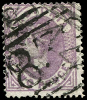 Lot 2055:839: '839' on 2d Bell overprinted with lighter BN '844'. [Rated 3R]  Allocated to Golden Gully-PO 9/8/1900; RO 16/7/1918; PO 1/7/1927; closed 7/6/1930.