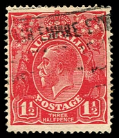 Lot 347:1½d Red Die I - BW #90(17)i [17L39] GE of POSTAGE joined, Cat $90, couple of missing perfs.