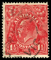 Lot 348:1½d Red Die I - BW #90(17)sa [17R27] Substituted cliché (notched NE corner), Cat $90