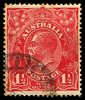 Lot 543:1½d Red Die I - BW #90(18)h [18L24] Retouched SW corner - ACCC State II, toned areas, Cat $90.