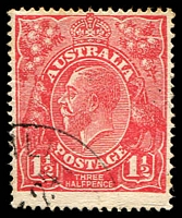 Lot 545:1½d Red Die I - BW #90(18)ub [18R60] White flaw in right value shield with additional white flaw in right wattles, few lightly toned perf tips, Cat $150.