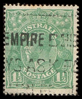 Lot 289:1½d Green Die I - [18R28] Point of TLC split, few toned perf tips.