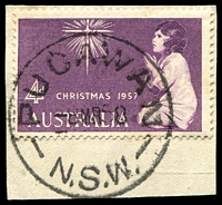 Lot 1393:Pucawan: - 'PUCAWAN/8MR58/N.S.W.' on 4d Xmas.  PO 30/9/1929; closed 11/1/1968.