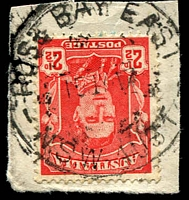 Lot 1420:Rose Bay East: - 'ROSE BAY EAST/15JY47/N.S.W-AUST' on 2½ red KGVI.  PO 3/10/1938; closed 11/6/1979.