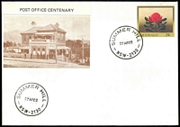 Lot 974:Summer Hill: - 'SUMMER HILL/27AP82/NSW-2130' on illustrated Philas PO Centenary cover, unaddressed.  PO 24/4/1882.