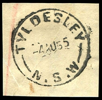 Lot 1494:Tyldesley: - 'TYLDESLEY/4AU55/N.S.W' on registered piece.  PO 8/1/1923; closed 31/3/1959.