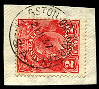 Lot 2142:Kingston-On-Murray: - 'KINGSTON-ON-MURRAY/21JL37/S.A.' on 2d red KGV.  PO 15/7/1895; LPO c.-/3/1993.