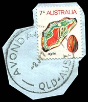 Lot 1551:Avondale: - 'AVONDALE/2JY74/QLD-AUST' on 7c Agate. [Rated R]  RO 22/7/1890; PO 8/9/1898; closed c.1984.