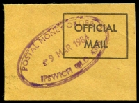 Lot 7377:Ipswich: 37x21mm violet double-oval 'POSTAL MONEY ORDER/9MAR1984/IPSWICH QLD. 4305' (LRD). [Rated 2R]  PO 2/1/1846.