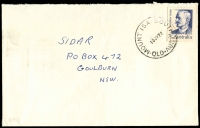 Lot 1652:Mount Isa South: - 'MOUNT ISA SOUTH/13JY72/QLD-AUST' on 7c Fisher on cover (flap missing). [Rated R]  PO 4/1/1960; closed 20/5/1983.