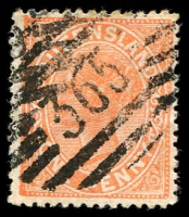 Lot 7043:365: BN on 1d Lined-Oval. [Rated R]  Allocated to Hungerford-PO 15/6/1886; closed c.1907.