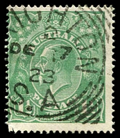Lot 1777:Brighton: - 28mm squared-circle '[B]RIGHTON/2/DE17/23/S.A' on 1½d green KGV.  PO 27/8/1849.