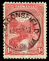 Lot 2242:Beaconsfield: - 'BEACONSFIELD/19SEP12/TASMANIA' (3 letter month) on 1d Pictorial.  Renamed from Brandy Creek PO 1/4/1879.
