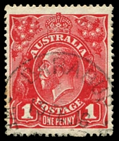 Lot 2986:Barabup: - 'BARABUP/15FE16/WES[TN AUSTRALI]A' on 1d red KGV.  Renamed from Barrabup PO c.-/11/1915; renamed Barrabup PO 1/12/1923.