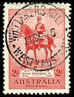 Lot 3450:Whittakers Mill: - 'WHITTAKERS MILL/11SE35/WESTN AUSTRALIA' (#D27) on 2d Jubilee.  PO 2/6/1913; closed c.-/1/1952.