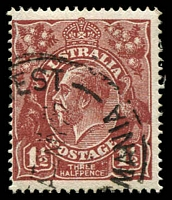 Lot 1485:1½d Red-Brown Die I - BW #87(11)k [11R7] Scratched electro, Cat $60.