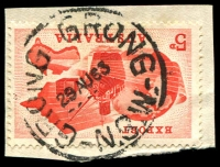 Lot 6617:Grong Grong (2): - 'GRONG GRONG/29AU63/N.S.W.' (Type 2C) on 5d Export.  Renamed from Grong Grong R.S. PO 3/1/1898.