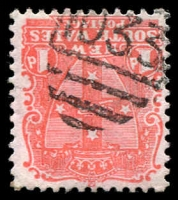 Lot 5452:1033: '1033' BN on 1d Arms.  Allocated to Broadwater-PO 16/7/1880.