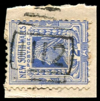 Lot 5475:1112: BN on 2d blue.  Allocated to Monteagle-PO 16/12/1881.