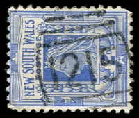 Lot 6007:1215: on 2d blue.  Allocated to Tarro R.S.-PO 1/9/1883; renamed Tarro PO 15/3/1913.
