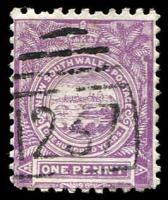 Lot 5114:1237: BN on 1d Centennial. [Rated SS]  Allocated to Grose Vale-PO 1/1/1884.