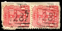 Lot 5524:1287: 2 strikes of BN on 1d Arms pair. [Rated SS]  Allocated to Aliceton-RO 16/4/1884; PO 1/4/1885; replaced by Karuah PO 1/1/1892.