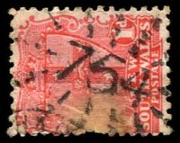 Lot 6017:754: rays on 1d Arms. [Rated S]  Allocated to Harwood Island-PO 1/2/1875.