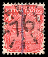 Lot 6153:761: rays on 1d Arms.  Allocated to North Wardell-PO 1/3/1875; renamed Wardell PO 1/2/1878.