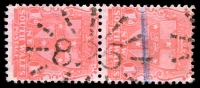 Lot 5421:825: '825' rays (3c) on 1d Arms pair.  Allocated to Burraga-PO 15/1/1876; closed 30/6/1988.