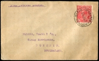 Lot 23830:1929 'NORFOLK ISLAND/23MR29/AUSTRALIA' on 1½d red KGV on cover to New Zealand.  PO c.1832.