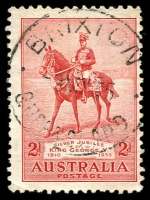 Lot 7853:Brixton: 'BRIXTON/8MY35/QUEENSLAND' on 2d Jubilee. [Rated R]  RO c.-/12/1907; PO 1/7/1927; closed 2/12/1976.