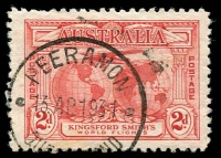 Lot 8870:Peeramon: - 'PEERAMON/13AP1931/QUE[ENSLA]ND' on 2d Kingsford Smith.  RO c.1911; PO c.1914; closed 30/9/1974.