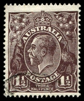 Lot 412:1½d Black-Brown Die I [1R6] Small spur in white border in TRC, etc