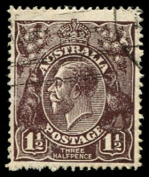 Lot 419:1½d Black-Brown Die I BW #84(1)k [1R36] White flaw on 4th bloom of right wattles, Cat $30, few rough perfs.
