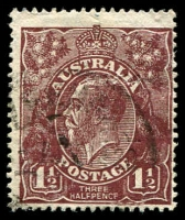 Lot 2763:1½d Brown Die I - BW #86(8)pa [8R48] retouched to lower frame - State II, Cat $25, perf 'T'. Rarer than the catalogue value suggests.