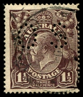 Lot 191:1½d Black-Brown Die I BW #83(2)e [2L27] TA of POSTAGE joined at top, Cat $30, perf 'OS'.