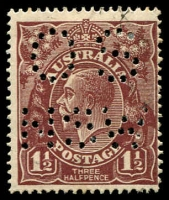 Lot 261:1½d Brown Die I [8L60] diagonal break in bottom frame under last E of PENCE, perf 'OS/NSW'.