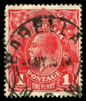 Lot 992:Barellan: 'BARELLA[N]/9MY191?/N.S.W' on 1d red KGV.  PO 1/4/1909.